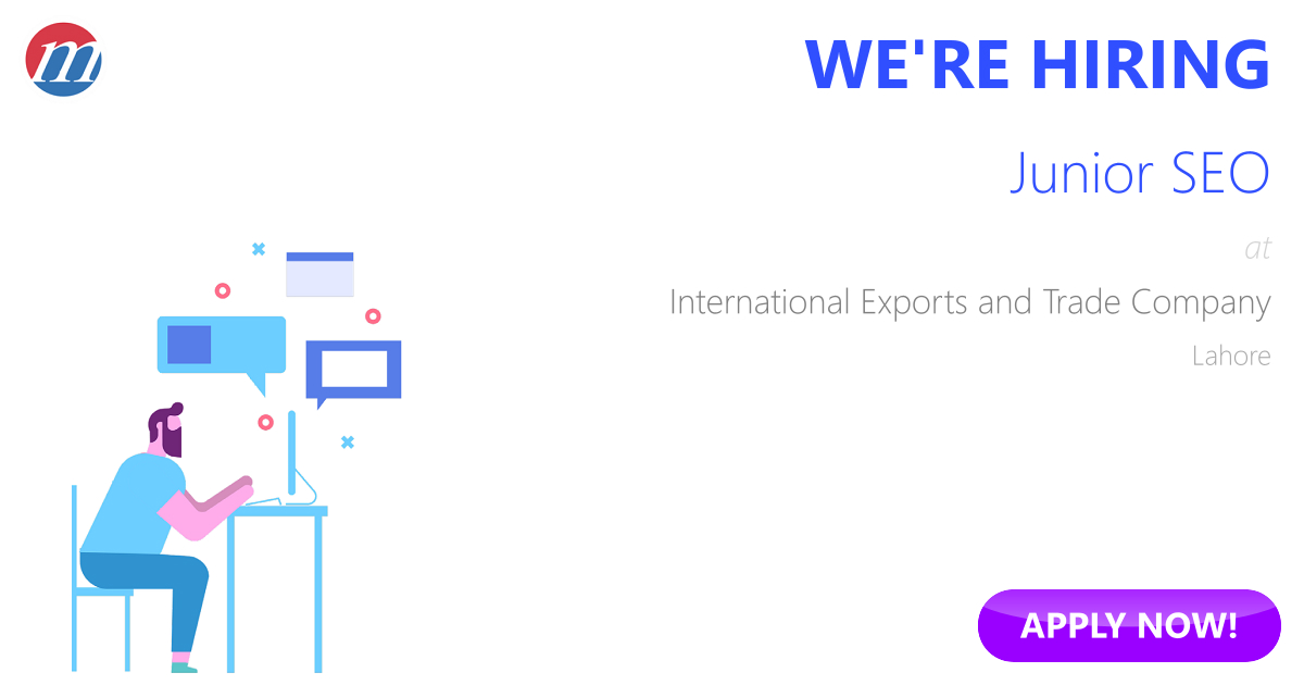 Junior SEO Job in International Exports and Trade Management
