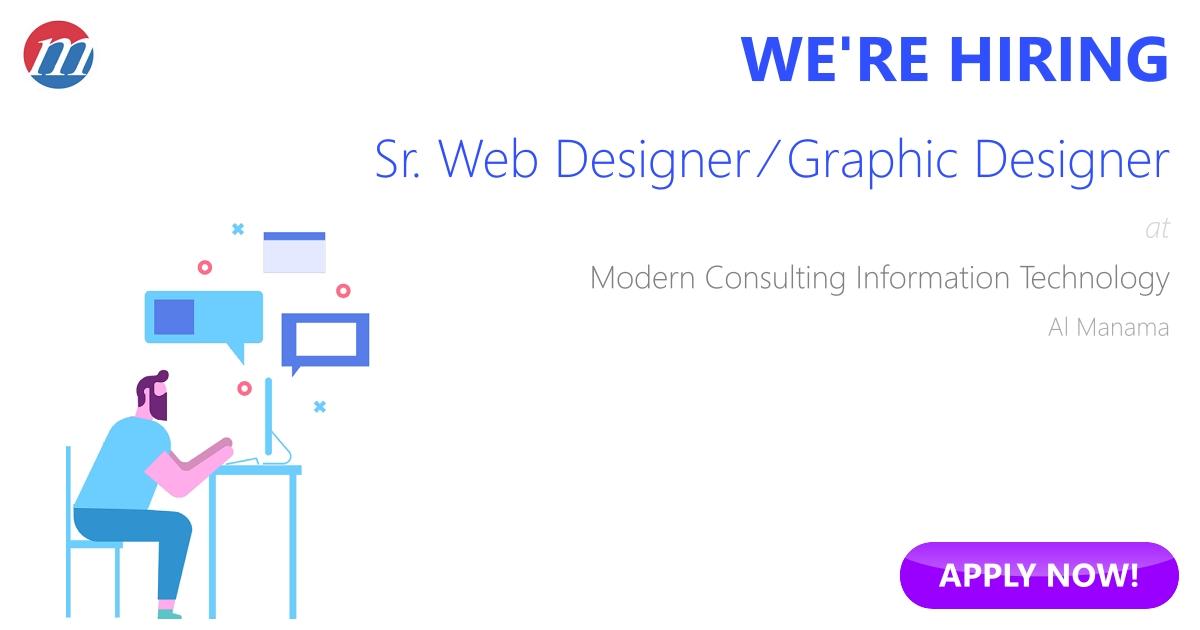 Sr Web Designer  Graphic Designer Job In Bahrain  Modern