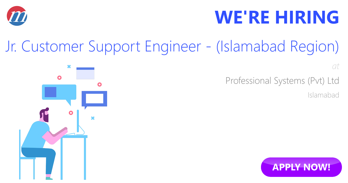 Support engineer jobs in islamabad