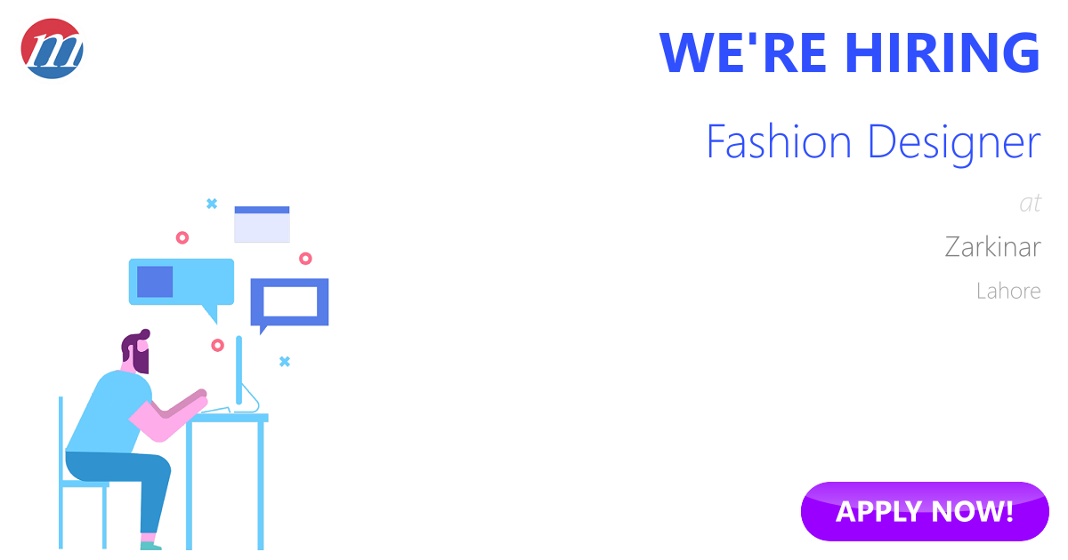 Fashion Designer Job In Zarkinar Lahore Pakistan Ref 193664